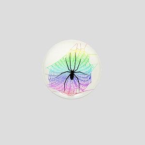 Spider Rainbow web Mini Button