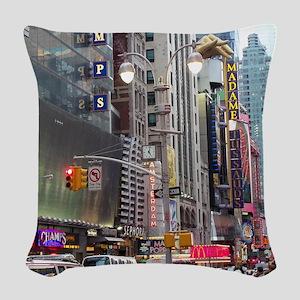 Busy New York Woven Throw Pillow