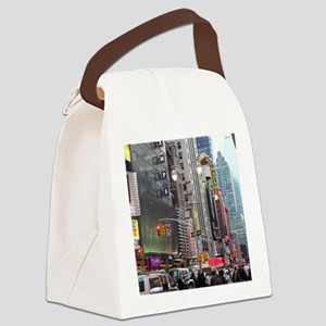 Busy New York Canvas Lunch Bag