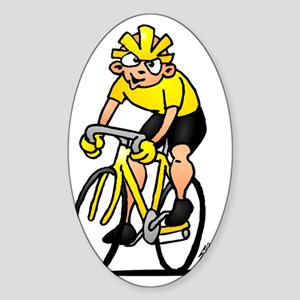 Cyclist Sticker (Oval)