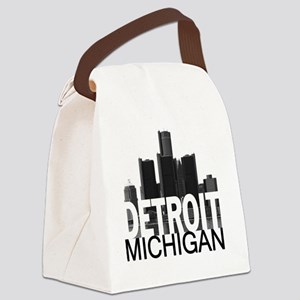 Detroit Skyline Canvas Lunch Bag