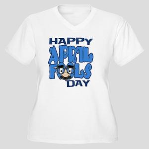 Happy April Fools Women's Plus Size V-Neck T-Shirt