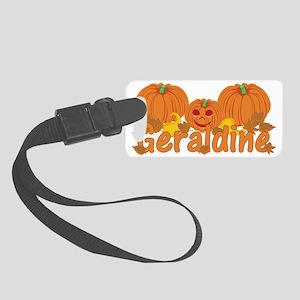 Halloween Pumpkin Geraldine Small Luggage Tag