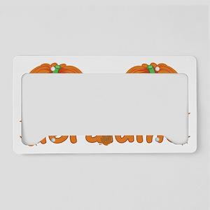 Halloween Pumpkin Geraldine License Plate Holder