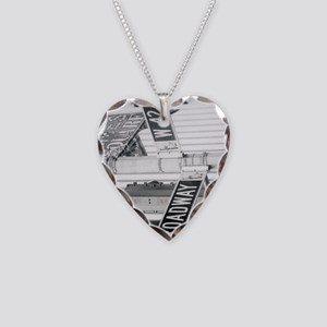New York - Broadway Times Squ Necklace Heart Charm