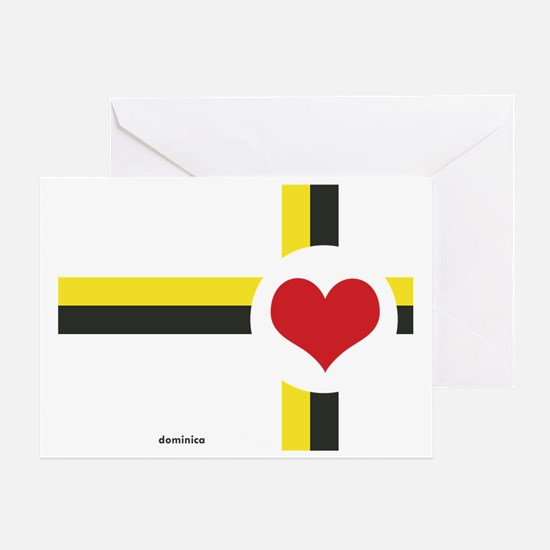 Dominica Love Greeting Card