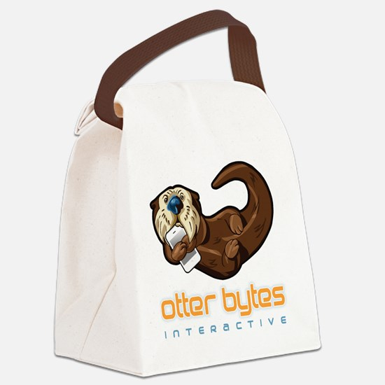 Otter Bytes Canvas Lunch Bag