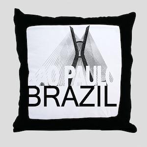 Sao Paulo Skyline Throw Pillow