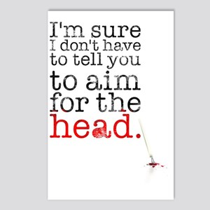 Aim for the head Postcards (Package of 8)
