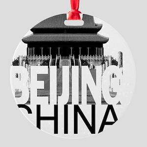 Beijing Skyline Round Ornament