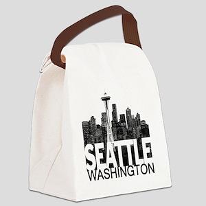 Seattle Skyline Canvas Lunch Bag