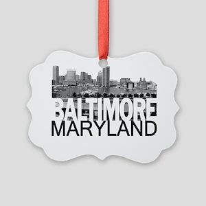 Baltimore Skyline Picture Ornament