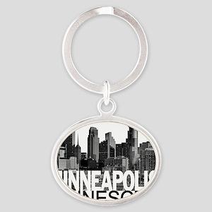 Minneapolis Skyline Oval Keychain