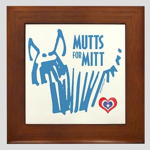 Mutts for Mitt by VampireDog Framed Tile