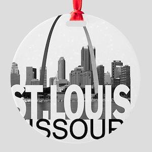 St. Louis Skyline Round Ornament