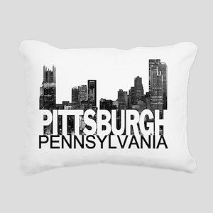 Pittsburgh Skyline Rectangular Canvas Pillow