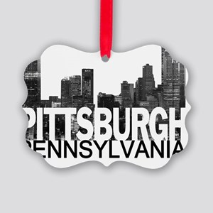 Pittsburgh Skyline Picture Ornament