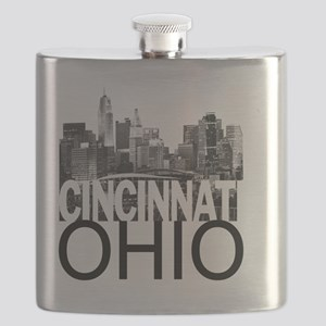 Cincinnati Skyline Flask