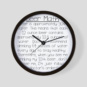 Beer Math Wall Clock