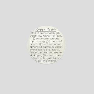 Beer Math Mini Button