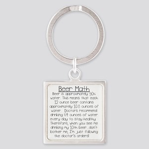 Beer Math Square Keychain