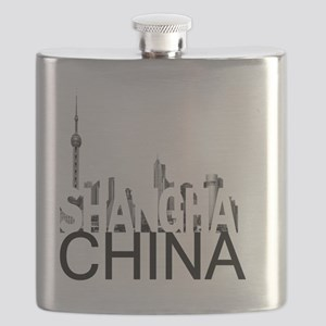 Shanghai Skyline Flask