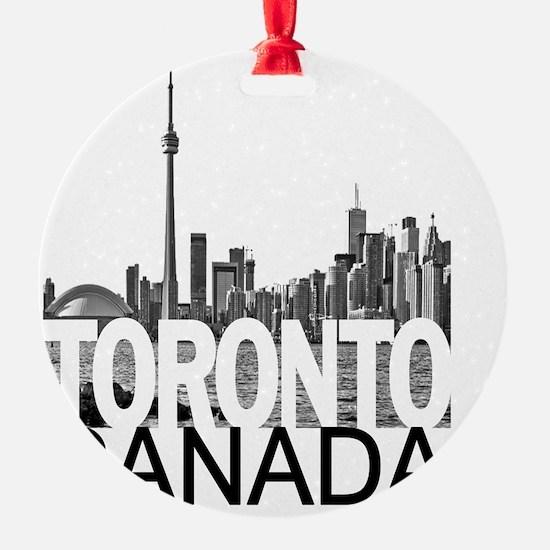 Toronto Skyline Round Ornament