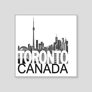 """Toronto Skyline Square Sticker 3"""" x 3"""""""