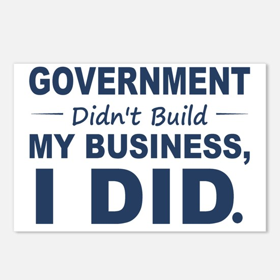 Government Didnt Build It Postcards (Package of 8)