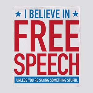 Free Speech Throw Blanket