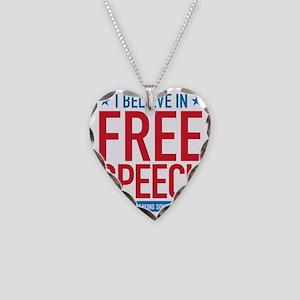 Free Speech Necklace Heart Charm