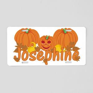 Halloween Pumpkin Josephine Aluminum License Plate