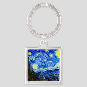 Van Gogh Square Keychain