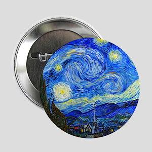 """Van Gogh 2.25"""" Button"""