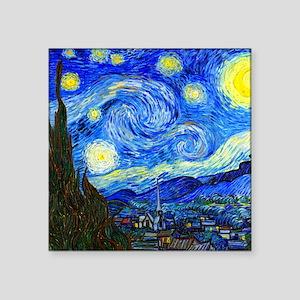"Van Gogh Square Sticker 3"" x 3"""