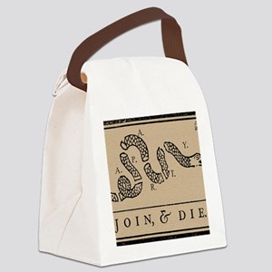 Tea Party - Join & Die Canvas Lunch Bag