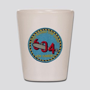 uss haddo patch transparent Shot Glass