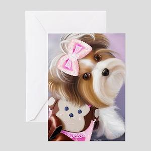 ByCatiaCho Little Monkey Greeting Card