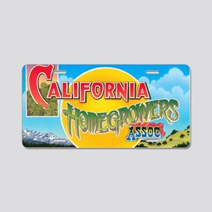 California Homegrowers Asso Aluminum License Plate