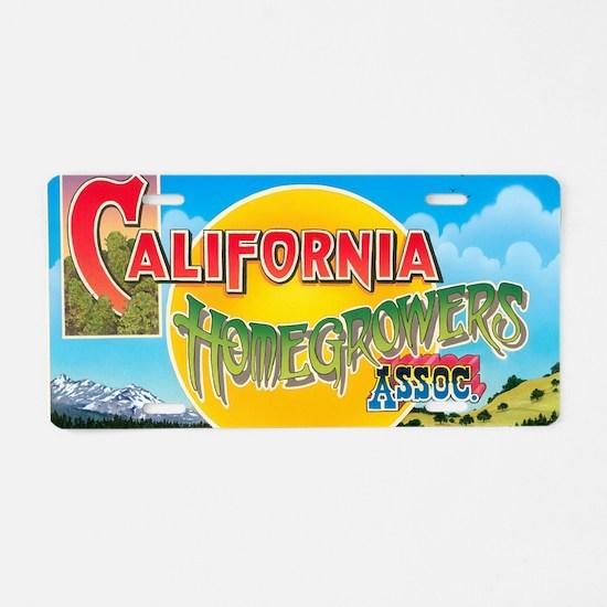 California Homegrowers Asso Aluminum License Plate