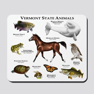 Vermont State Animals Mousepad
