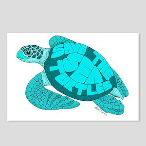 Teal Turtle Postcards (Package of 8)