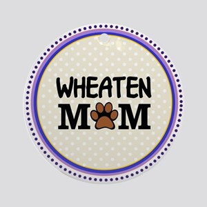 Wheaten Dog Mom Ornament (Round)