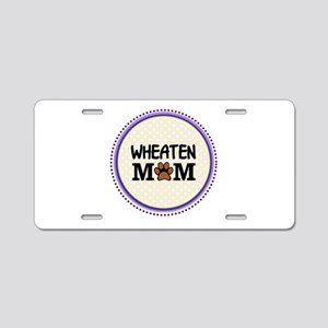 Wheaten Dog Mom Aluminum License Plate