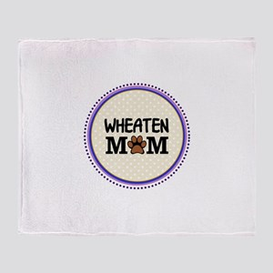 Wheaten Dog Mom Throw Blanket