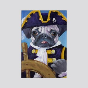 Pug Pirate Stuff Rectangle Magnet