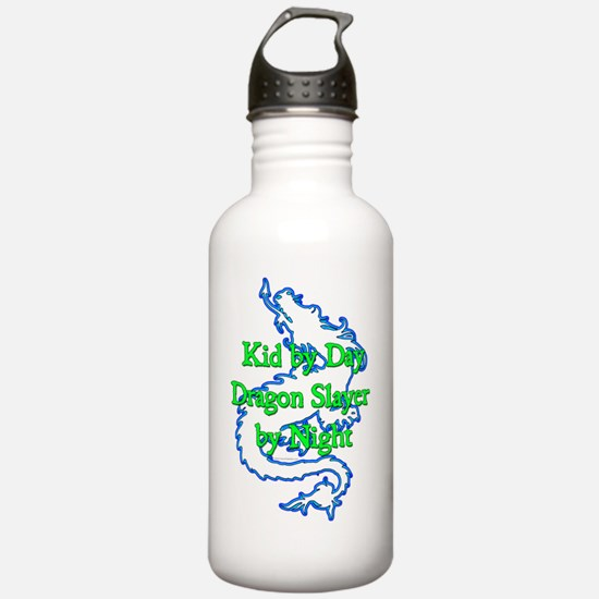 Kid by Day Dragon Slay Water Bottle