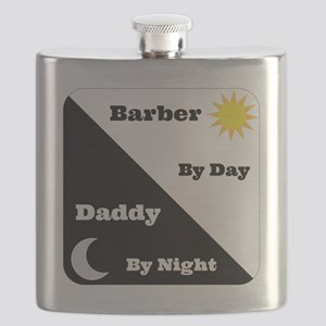Barber by day Daddy by night Flask