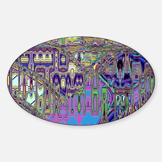 Gumby Loves Gidget A PC Sticker (Oval)
