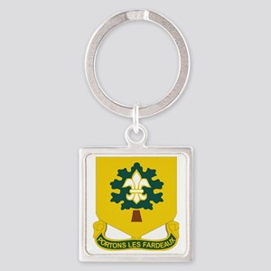 DUI - 101st Support Battalion Square Keychain